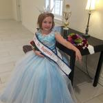 Stylist, Lisa Garmen's granddauther, Kiera, in the beautiful gown that Lisa made for her.