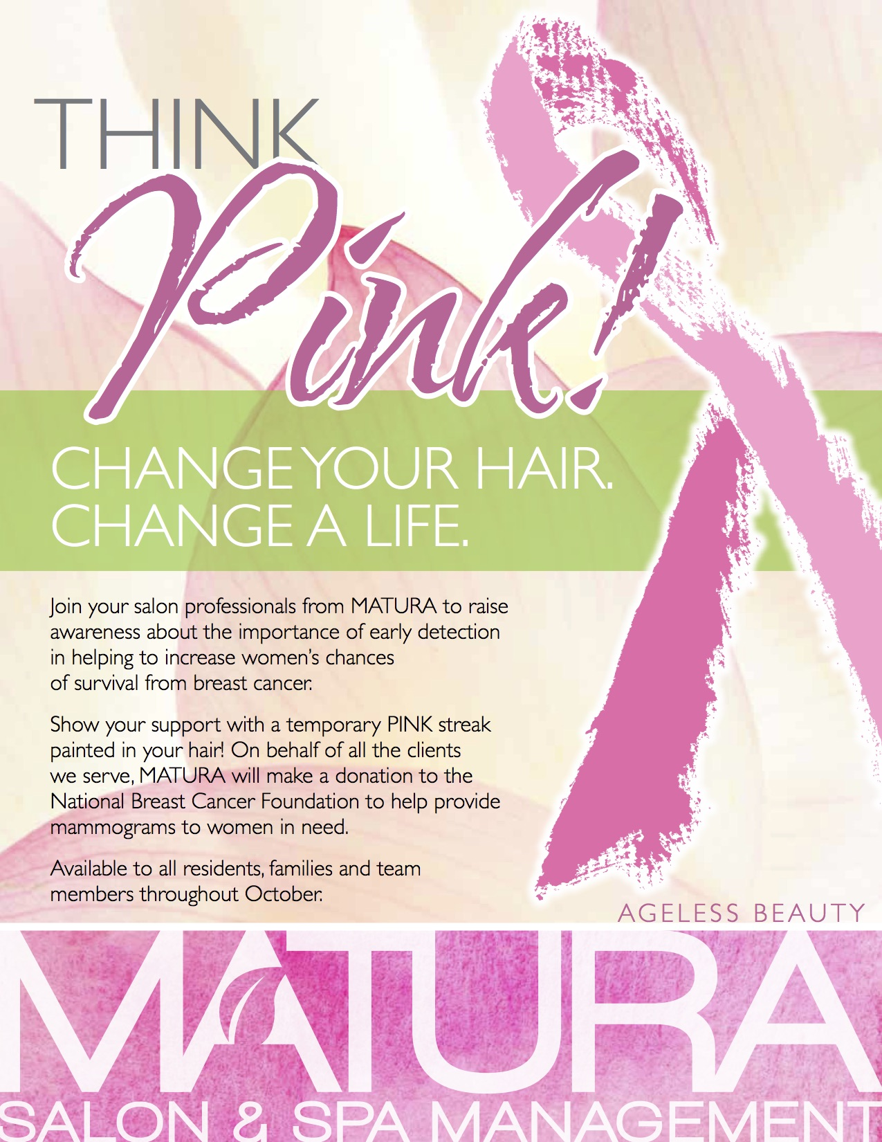 think pink change your hair change a life matura salon spa. Black Bedroom Furniture Sets. Home Design Ideas
